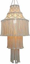 HJW Practical Lighting Pendant Light Round Tassel