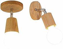 HJW Practical Lighting Wood Ceiling Lights for