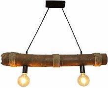 HJW Retro Loft Bar Chandelier Hemp Rope Pendent