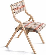 HJW Solid Wood Folding Chair Simple Modern Home