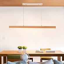 HJW Wooden Pendant Light Creative Study Desk Wood
