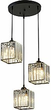 HJXDtech Modern Square Crystal Lampshade 3 Way