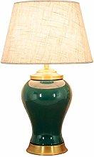 HJY Home Simplicity Ink Green Ceramics Desk Lamp