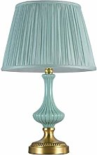 HJY Home Simplicity Simple Blue Ceramic Table Lamp