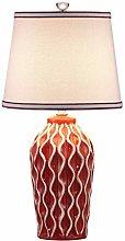 HJY Home Simplicity Striped Ceramic Desk Lamp