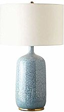 HJY Home Simplicity Table Lamp, Blue Ceramic