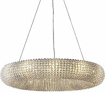 HJY Round Crystal Ring Chandelier Modern
