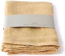 HKliving - 100 Linen Napkin Soft Yellow Set Of 2