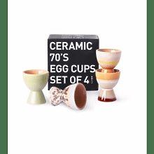HKliving - 70s Ceramics Egg Cups Set of 4