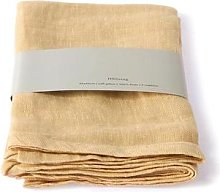 HKliving - Soft Yellow Linen Napkins Set Of 2