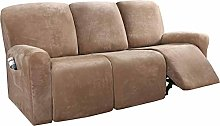 HKPLDE Recliner Covers For 3 Cushion, 8-Pieces