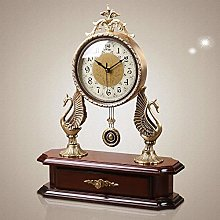 HKX Classic Fireplace Pendulum Clock Pure Copper