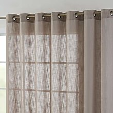 HLC.ME Faux Linen Semi Sheer Extra Wide Light