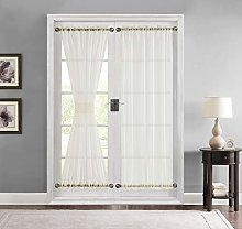 HLC.ME Sheer Voile French Door Patio Sidelight