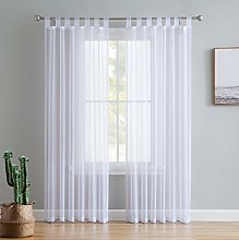 HLC.ME White Tab Top 54 inch x 95 inch Long Window