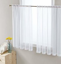 HLC.ME White Window Curtain Sheer Voile Panels for