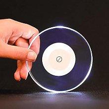 HLL Acrylic Crystal Ultra-Thin Led Light Coaster