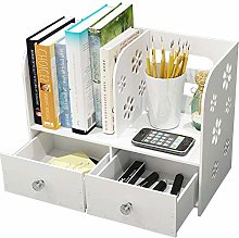HLL Bookcases,Desk Organiser 2-Tier Cut-Out