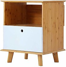 HLL Bookcases,Solid Wood Bedside Cabinet Simple