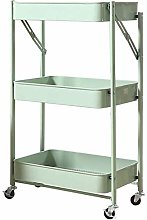 HLL Carts,Bathroom Storage Shelf Folding Kitchen