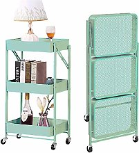 HLL Carts,Foldable Living Room Storage Cart with