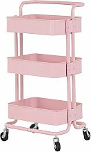 HLL Carts,Trolley 3-Tier Kitchen Storage Cart with