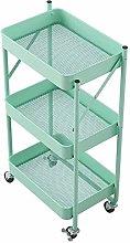HLL Carts,Trolley Foldable Kitchen Shelf