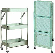HLL Carts,Trolley Folding Kitchen Storage Cart on
