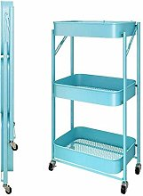 HLL Carts,Trolley Folding Kitchen Storage Cart on