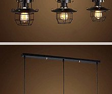 HLL Chandelier,Vintage Pendant Light Loft Iron