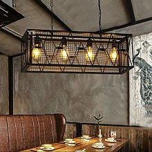 HLL Chandeliers,Retro Iron Industry Wind
