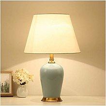 HLL Desk Lamp,Ceramic Chinese Living Room Decor