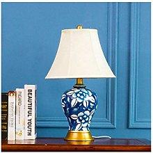 HLL Desk Lamp,Ceramic Table Lamps Living Room