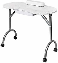 HLL Desk,Portable Manicure Table,with Arm Rest