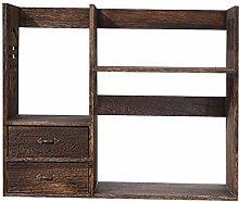 HLL Floating Shees, Solid Wood Desktop Racks Desk