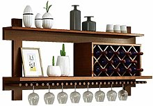 HLL Floating Shees, Solid Wood Wine Rack Rack Wall
