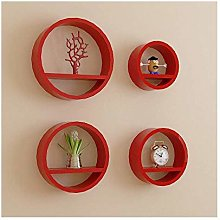 HLL Floating Shees,Wooden Round Wall Cabinet