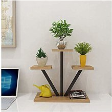 HLL Flower Stands,Metal Wood Indoor and Outdoor