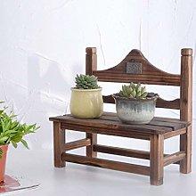 HLL Flower Stands,Solid Wood Desk Bookshelf Bay