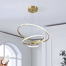 HLL Household Chandeliers,Led 3 Rings Chandelier