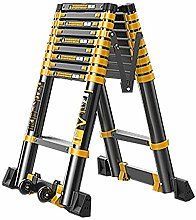 HLL Ladders,2.7M+2.7M Stairs Telescoping Ladder,