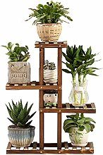 HLL Plant Stand,4 Tiers Garden Decoration Wooden