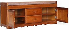 HLL Shoe Rack,Solid Wood Shoe Cabinet, Standing