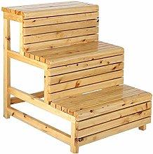 HLL Step Stools,Wooden Step Stool Bedside Cabinet