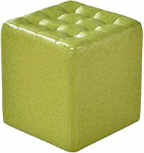 HLL Stools,Faux Leather Cube Upholstered Footstool