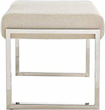 HLL Stools,Modern Upholstered Footstool Stainless