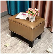 HLL Stools,Pouffe Upholstered Footstool Sofa Stool