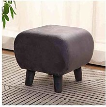 HLL Stools,Upholstered Footstool Pouffe Wooden