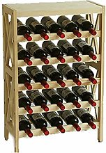 HLL Wine Cabinet Free Standing Wooden Wine Rack