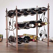 HLL Wine Racks,Iron Art Creative Retro Wine